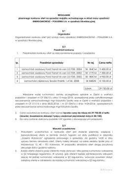 Regulamin konkursu ofert - Energomontaż