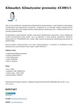 Klimazbyt: Klimatyzator przenośny AX3001/1