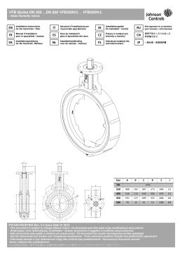 VFB Series DN 350 .. DN 500 VFB350H/L .. VFB500H/L