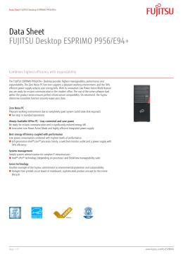 Data Sheet FUJITSU Desktop ESPRIMO P956/E94+