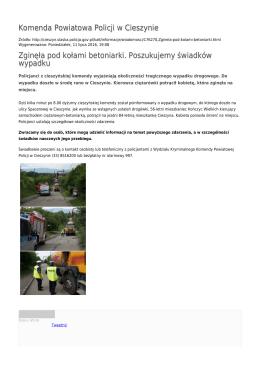 Generuj PDF - Komenda Powiatowa Policji w Cieszynie