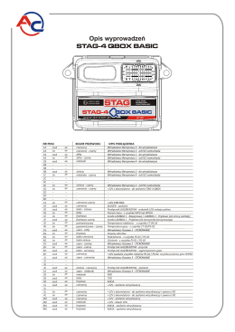 STAG-4 Q-BOX BASIC - opis wyprowadzeń.cdr