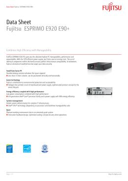 Data Sheet Fujitsu ESPRIMO E920 E90+