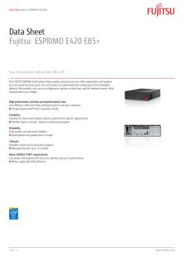 Data Sheet Fujitsu ESPRIMO E420 E85+