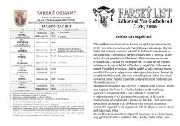 Farský list 28/2016