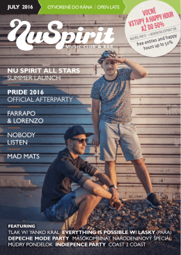 nu spirit all stars summer launch pride 2016 official afterparty farrapo
