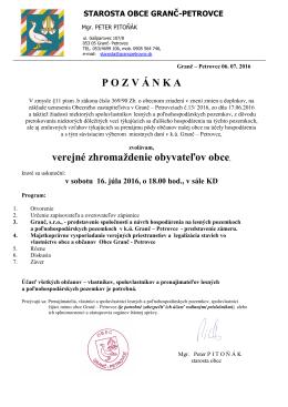 16.7.2016 - Granč – Petrovce