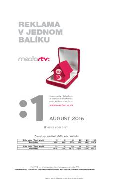TV - august - cenník komerčných prvkov