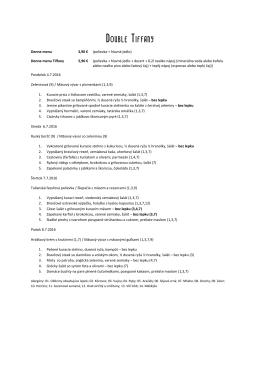 Stiahnite si denné menu v pdf!