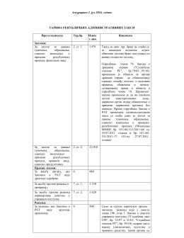Taбела републичких административних такси