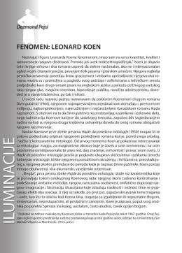 Dezmond Pejsi: FENOMEN: LEONARD KOEN