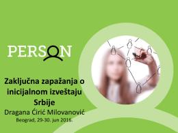 Zaključna zapažanja o inicijalnom izveštaju Srbije - MDRI-S