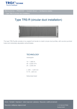 Type TRS-R (circular duct installation) TROX USLUGE