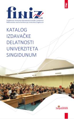 PDF formatu - FINIZ - Univerzitet Singidunum