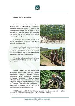 Opširnije... - Savjetodavna služba u biljnoj proizvodnji