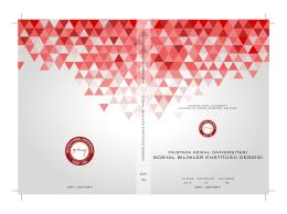 Untitled - Mustafa Kemal Üniversitesi Sosyal Bilimler Enstitüsü Dergisi