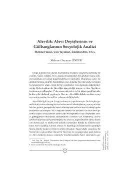 Alevilik: Alevi Deyişlerinin ve Gülbanglarının Sosyolojik