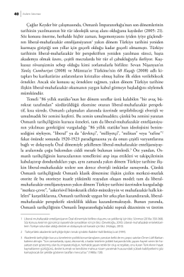 Klasik D  nem Osmanl   Tarihi al    malar  nda Max