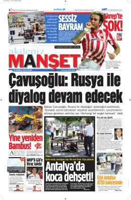 Akrep`te - Antalya Haber - Haberler