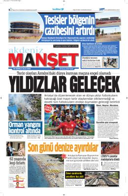 Orman yangını kontrol altında - Antalya Haber - Haberler