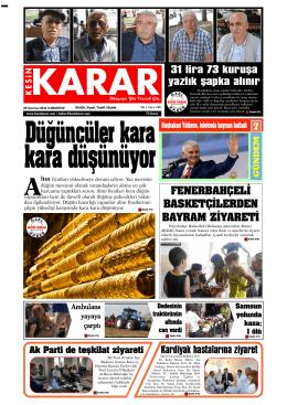 09 Temmuz 2016 - Kesin Karar Gazetesi