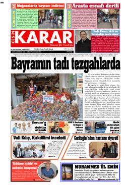 02 Temmuz 2016 - Kesin Karar Gazetesi