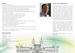Yönetim Anlayışımız: Hede er: Prof. Dr. Erhan TABAKOĞLU Kimdir?