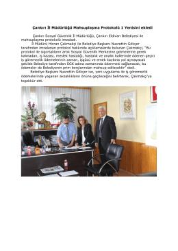 Çankırı İl Müdürlüğü Mahsuplaşma Protokolü 1 Yenisini ekledi