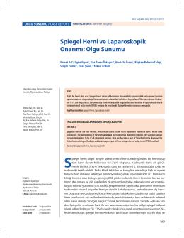 Spiegel Herni ve Laparoskopik Onarımı: Olgu Sunumu