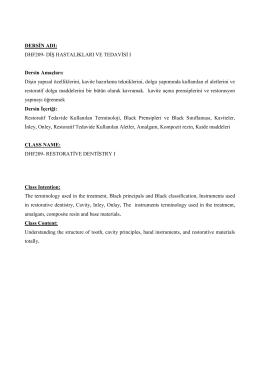 dhf 209- diş hastalıkları ve tedavisi ı