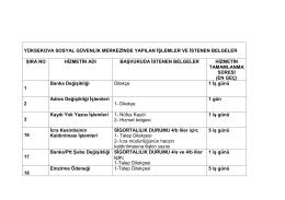 Yüksekova SGM`de Verilen Hizmetler