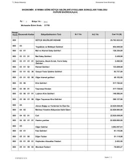 Mayıs Bütçe Gelirleri Uygulama Sonuçları