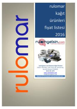 Fiyat Listesi - Rulomgelsin.com