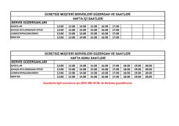 servis güzergahları 12:00 13:00 14:00 15:00 16:00 17:00 12:00 13