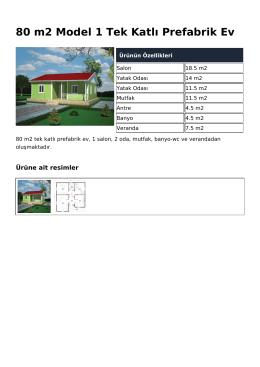 80 m2 Model 1 Tek Katlı Prefabrik Ev