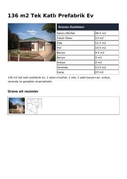 136 m2 Tek Katlı Prefabrik Ev
