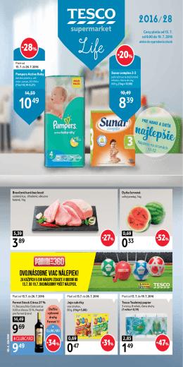 Leták - supermarkety