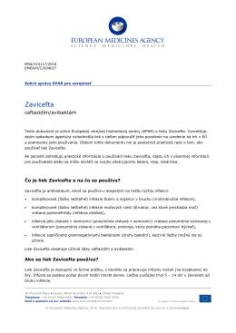 Zavicefta, INN-ceftazidime / avibactam