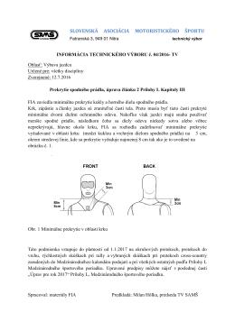 Informácia TV č. 04/2016 - oblečenie jazdcov