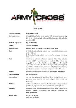 propozície - čo je armycross?