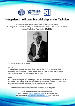 Hungarian-Israeli combinatorial days at the Technion