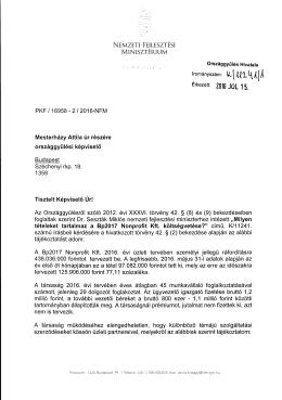 PKF / 16958 - 2 / 2016-NF M Mesterházy Attila úr