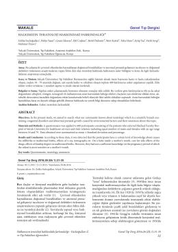 31 ÖZET ABSTRACT MAKALE Genel Tıp Dergisi Giriş