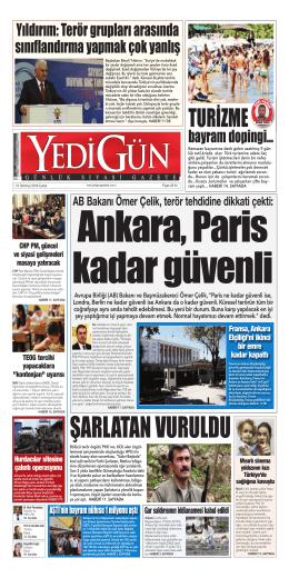 turizme - Yedigün Gazetesi