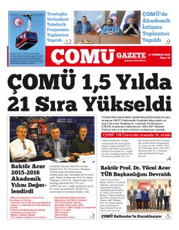 İndir - ÇOMÜ Gazete - Çanakkale Onsekiz Mart Üniversitesi