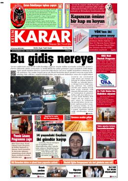 12 Temmuz 2016 - Kesin Karar Gazetesi