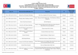 2016 yılı Okul Eğitimi Personel Hareketliliği Projeleri Kabul Listesi