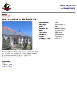 Satış / Həyət evi/Bağ evi, Baki, 130 000 AZN