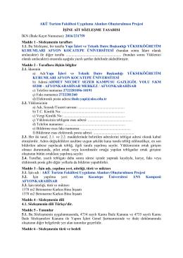 2016-231759_sozlesme_tasarisi - Yapı İşleri ve Teknik Daire