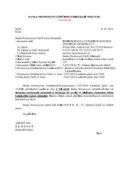 banka teklif mektubu - Bornova Veteriner Kontrol Enstitüsü